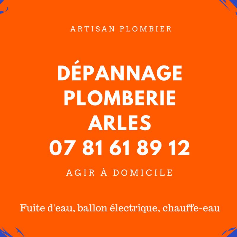 dépannage plomberie Arles