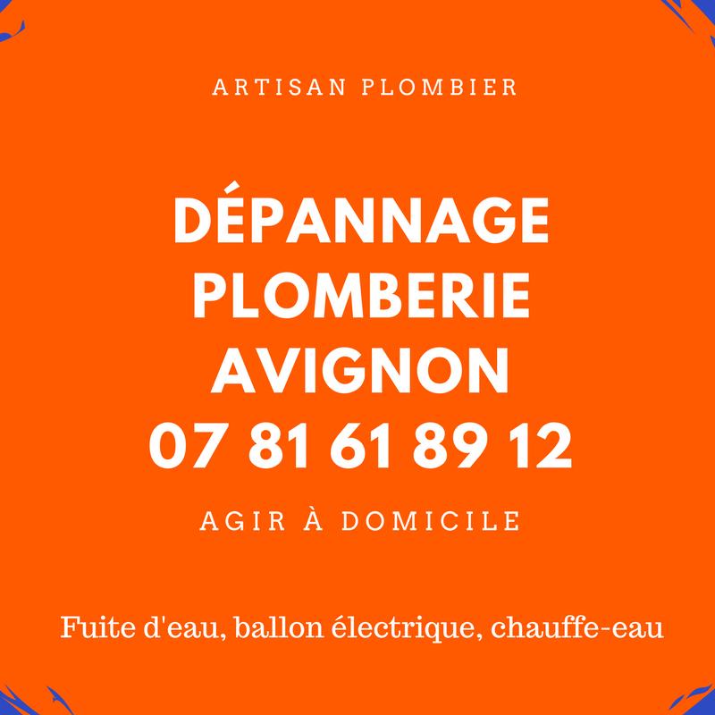 dépannage plomberie Avignon