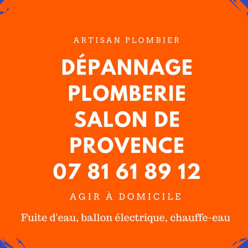 dépannage plomberie Salon de Provence